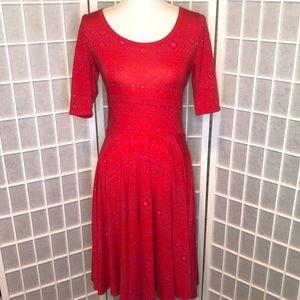 LuLaRoe Amelia dress red & purple size medium